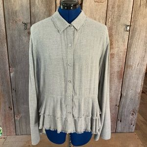 Cloth and Stone Anthropologie Button Up Sz M